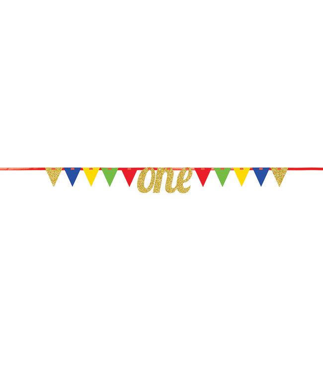 Creative Party Slinger 1 Jaar 'One' Circus - per stuk - Circus Party