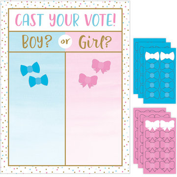 Creative Party Boy or Girl? Spel - set van 7 - Gender Reveal Party