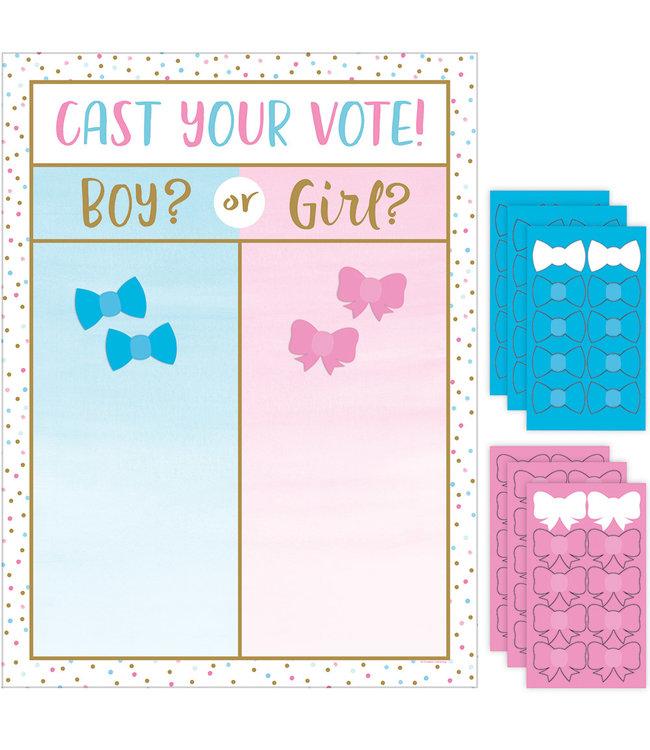 Creative Party Boy or Girl? Spel - set van 7 - Gender Reveal Party