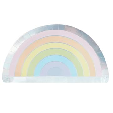 Ginger Ray Pastel Rainbow Borden - 8 stuks - Regenboog pastel feestartikelen