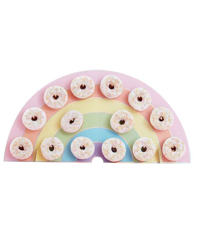 Ginger Ray Donut Wand Pastel Rainbow - per stuk - Regenboog pastel feestartikelen
