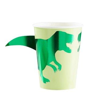Ginger Ray Roarsome Dinosaurus Bekers - 8 stuks - Dinosaurus Feestartikelen