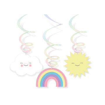 Amscan Rainbow & Cloud Hangdecoraties - 3 stuks - Regenboog en Wolk Feestje