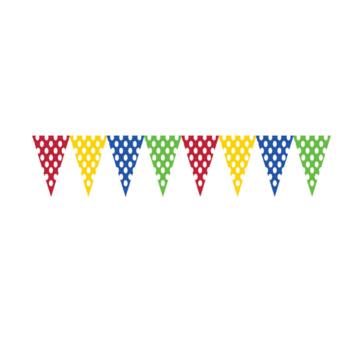 Creative Party Vlaggenlijn met Stippen (Kleurrijk) - per stuk