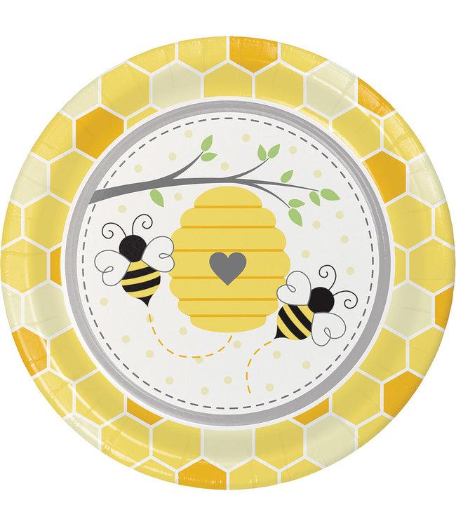 Creative Party Bumblebee Borden - 8 stuks - Bee Party