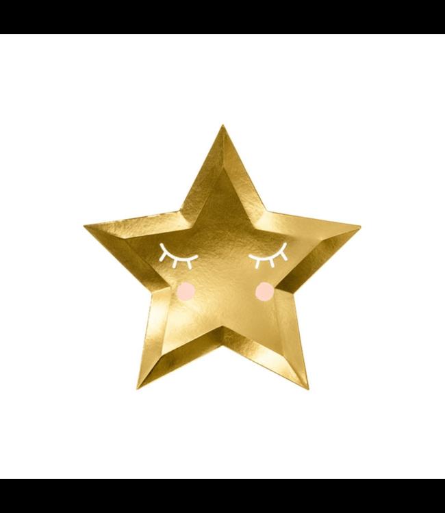 Partydeco Twinkle Twinkle Ster Borden - 6 stuks - Twinkle Twinkle Little Star