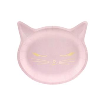 Partydeco Meow Borden - 6 stuks - Meow Feestartikelen