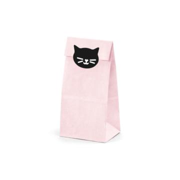 Partydeco Meow Zakjes - 6 stuks - Meow Feestartikelen