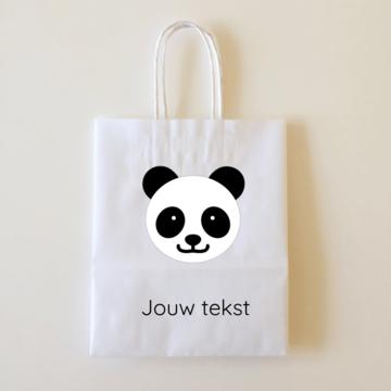 by Hieppp Goodiebags Panda - 10 stuks - Tasjes met jouw eigen tekst