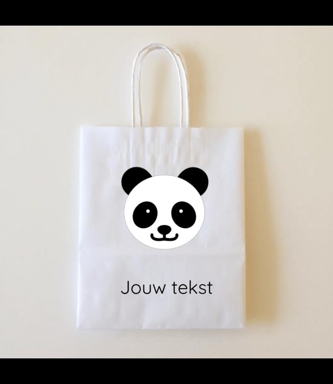 Hieppp Goodiebags Panda - 10 stuks - Tasjes met jouw eigen tekst