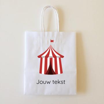 by Hieppp Goodiebags Circus Tent - 10 stuks - Tasjes met jouw eigen tekst