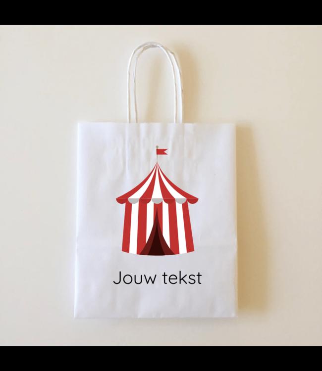 Hieppp Goodiebags Circus Tent - 10 stuks - Tasjes met jouw eigen tekst