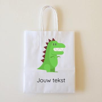 by Hieppp Goodiebags Dinosaurus - 10 stuks - Tasjes met jouw eigen tekst