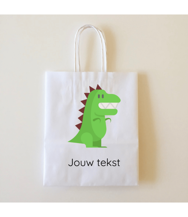 Hieppp Goodiebags Dinosaurus - 10 stuks - Tasjes met jouw eigen tekst