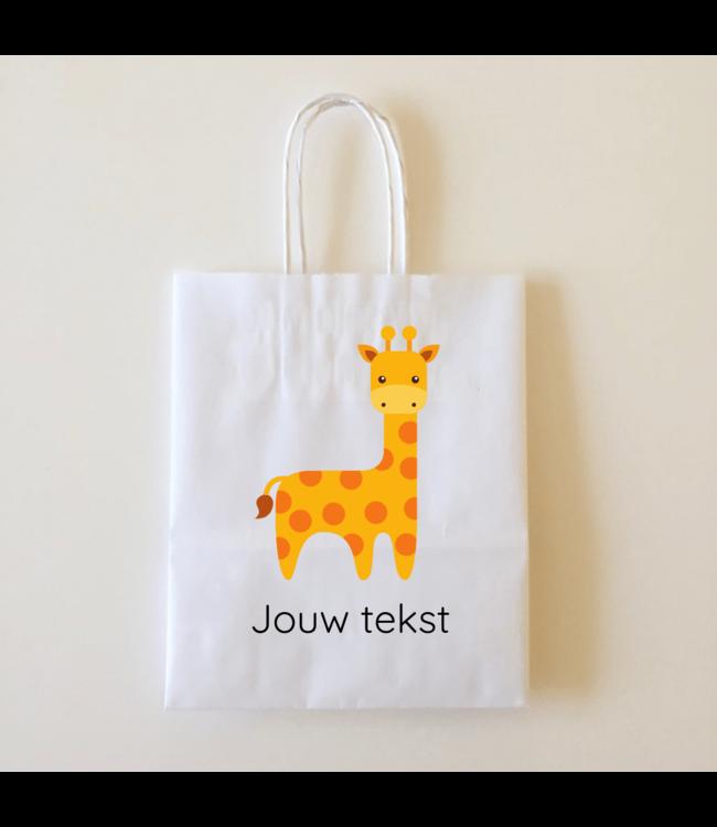 Hieppp Goodiebags Giraffe - 10 stuks - Tasjes met jouw eigen tekst
