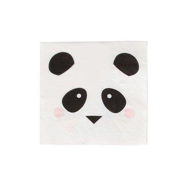 My Little Day Mini Panda Servetjes - 20 stuks - Feestartikelen voor een panda feestje