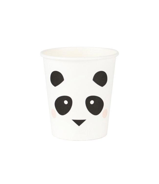 My Little Day Mini Panda Bekers - 8 stuks - Feestartikelen voor een panda feestje
