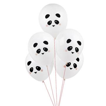 My Little Day Mini Panda Ballonnen - 5 stuks - Feestartikelen voor een panda feestje