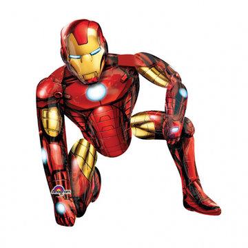 Amscan Iron Man Airwalker - XL Folieballon - per stuk - Superhelden Feestartikelen
