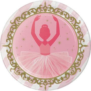 Creative Party Ballerina Borden - 8 stuks - Twinkle Toes feestartikelen voor een balletfeestje