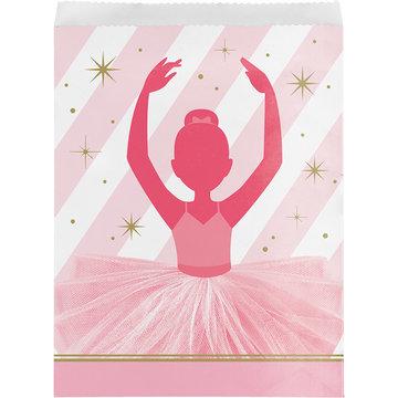 Creative Party Ballerina Zakjes - 10 stuks - Twinkle Toes feestartikelen voor een balletfeestje