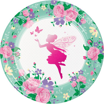 Creative Party Fairy Borden - 8 stuks - Floral Fairy Sparkle voor een feeën feestje