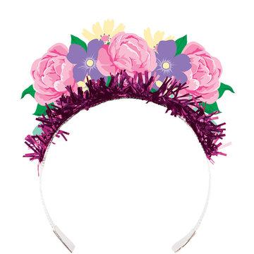 Creative Party Floral Fairy Diademen - 4 stuks - Floral Fairy Sparkle voor een feeën feestje