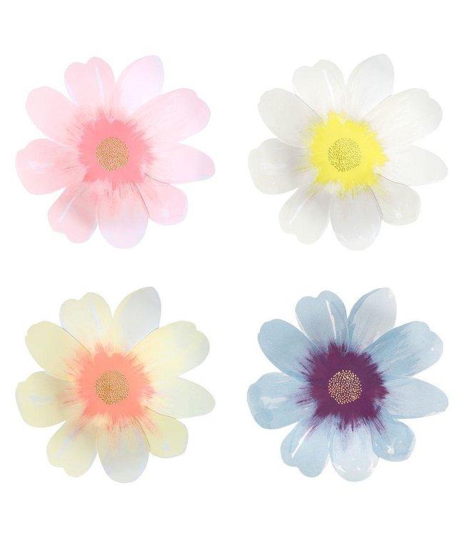 Meri Meri Bloem Borden  - 8 stuks - Flower Garden borden van Meri Meri