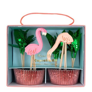 Meri Meri Flamingo Cupcakes Kit - set van 24 - Flamingo of Tropical Party