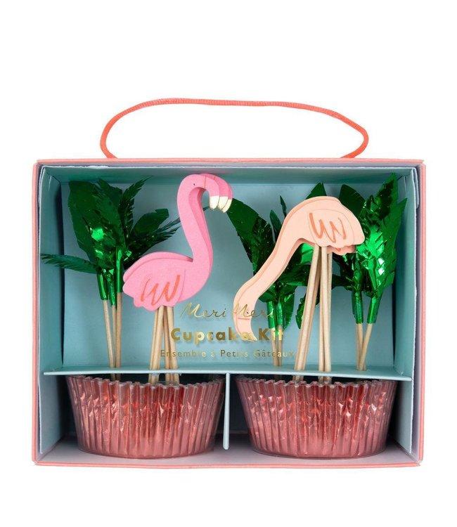Meri Meri Flamingo Cupcakes Kit - set van 24 - Flamingo of Tropical Party