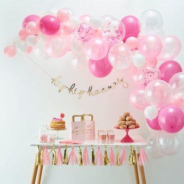 Ginger Ray Ballonboog Roze DIY Pakket - per set - Ballonnenboog zelf maken
