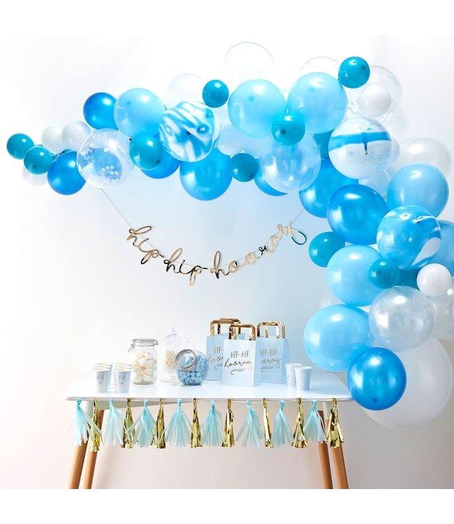 Ginger Ray Ballonboog Blauw DIY Pakket - per set - Ballonnenboog zelf maken
