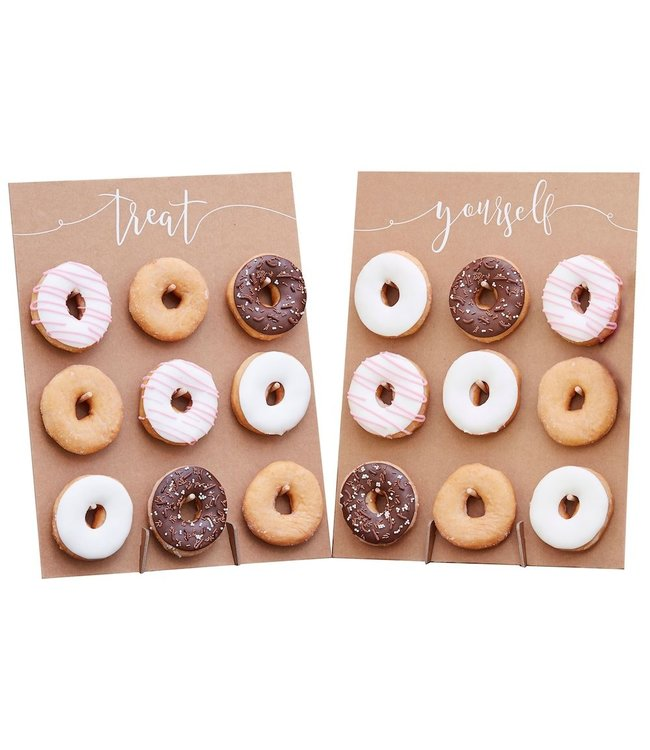 Ginger Ray Donut Wand Treat Yourself Kraft - set van 2 - Donut traktaties