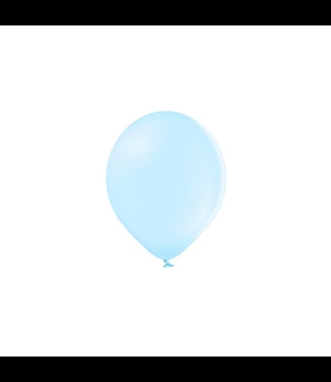 Partydeco Ballonnen Pastel Blauw (Klein) - 100 stuks - 12 cm - Pastel ballonnen