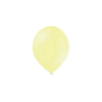 Partydeco Ballonnen Pastel Geel (Klein) - 100 stuks - 12 cm - Pastel ballonnen