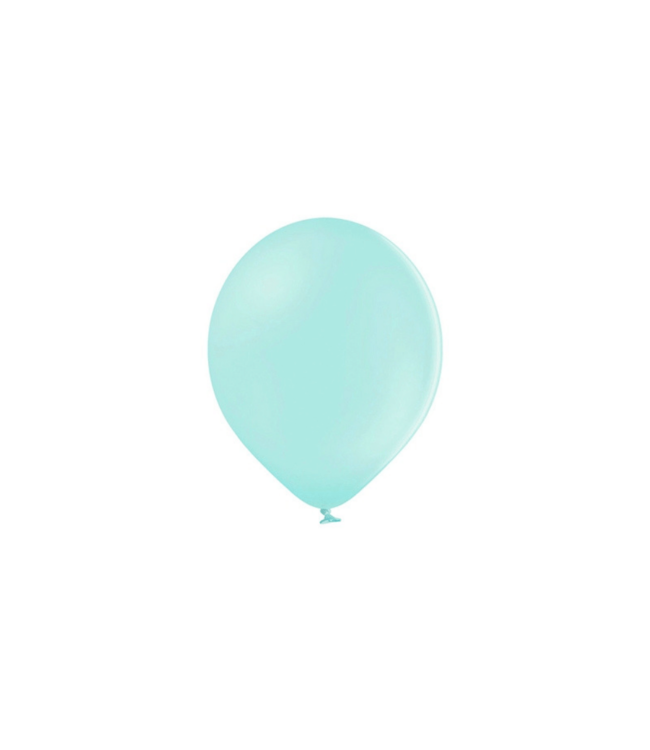Partydeco Ballonnen Pastel Mint (Klein) - 100 stuks - 12 cm - Pastel ballonnen