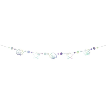 Partydeco Mermaid Party Slinger -  per stuk - Mermaid Feestartikelen