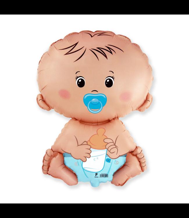 Flexmetal Baby Boy Folieballon - 45 cm - Geboorteballonnen