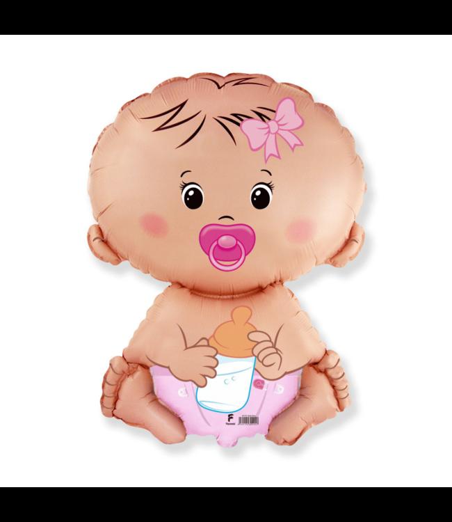 Flexmetal Baby Girl Folieballon - 45 cm - Geboorteballonnen