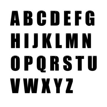 Hieppp Letters (Strak) - per stuk - Maak je eigen tekst- en letterslinger