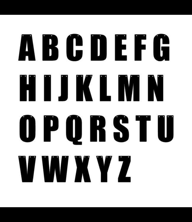 Hieppp Letters (Strak) - per stuk - Maak je eigen tekst-, naam- en letterslinger