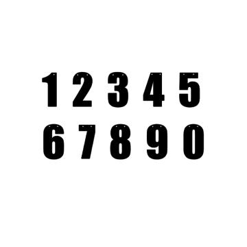 Hieppp Cijfers (Strak) - per stuk - Maak je eigen tekst- en letterslinger