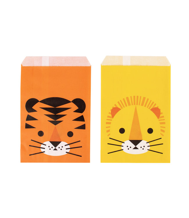 My Little Day Wilde Katten Zakjes - 10 stuks - Uitdeelzakjes voor een jungle feestje