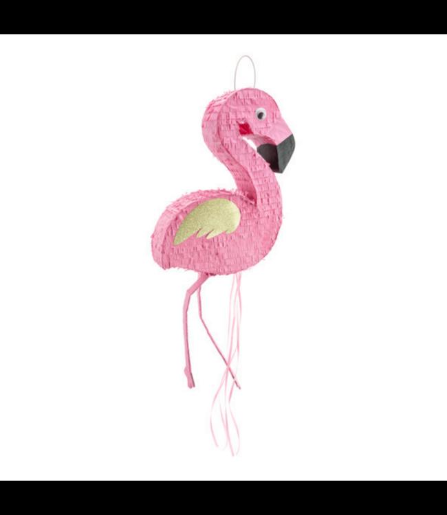 Partydeco Flamingo Piñata - per stuk - pull string pinata