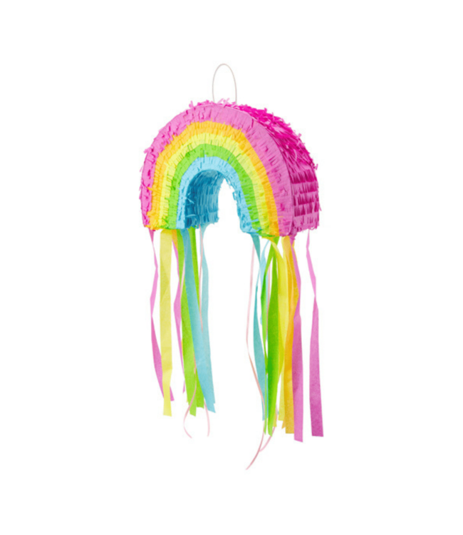 Partydeco Regenboog Piñata (Pastel) - per stuk - pull string pinata