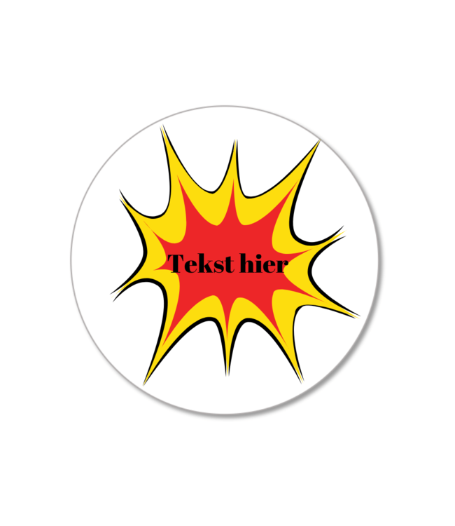 Hieppp Traktatie Labels Superhelden Pop Art - Rond - Personaliseer
