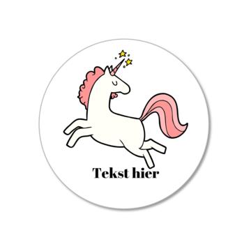 Hieppp Stickers Eenhoorn - Rond - Personaliseer