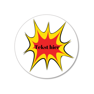 Hieppp Stickers Superhelden Pop Art - Rond - Personaliseer