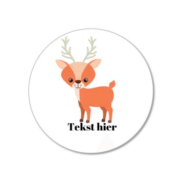 Hieppp Stickers Hert - Rond - Personaliseer