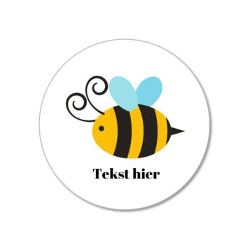 Hieppp Stickers Bij - Rond - Personaliseer